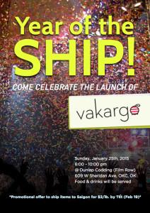 Launch Party flyer_vakargo
